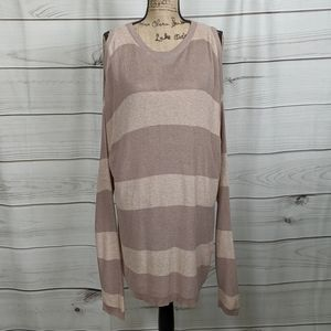 ANTHO EASEL Cold Shoulder Beige/Taupe Sweater